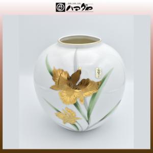 美濃焼 花瓶 金カトレア7号玉花瓶 item no.1f189|hamadaya-shokki