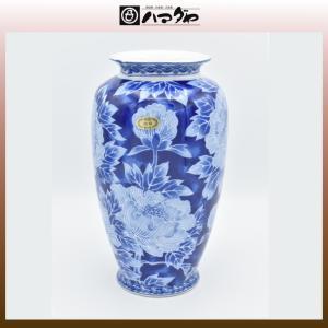 美濃焼 花瓶 3号 ローケツ牡丹 item no.1f213|hamadaya-shokki