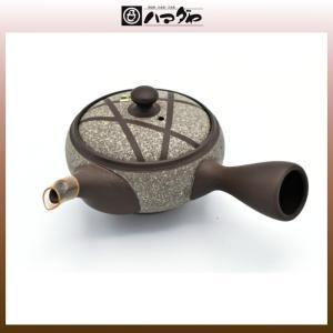 常滑焼 急須 宝二作16号朱泥ライン帯網急須 木箱入り item no.1f287|hamadaya-shokki