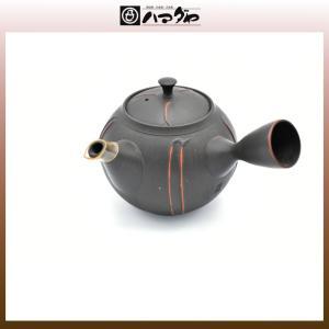 常滑焼 急須 玲光作 17号黒従線急須 木箱入り item no.1f288|hamadaya-shokki