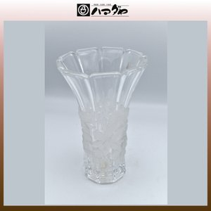 アデリアクリスタル 花瓶 らん柄花瓶(中) item no.1f376|hamadaya-shokki