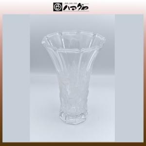 アデリアクリスタル 花瓶 らん柄花瓶(大) item no.1f377|hamadaya-shokki