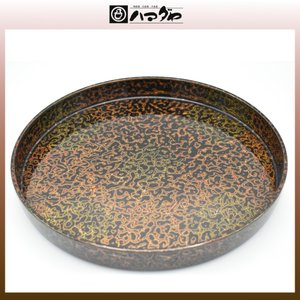会津塗 盆 会津虫喰RO面盆 item no.1f629|hamadaya-shokki