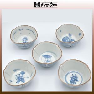 有田焼 小鉢セット わらべ絵変わり小梁揃え item no.1f646|hamadaya-shokki