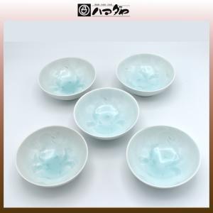 有田焼 小鉢セット 青白磁草花彫小鉢揃え item no.1f656|hamadaya-shokki