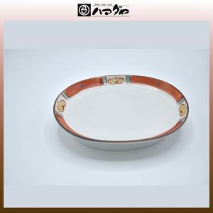 九谷焼 多田鐡男作 皿 渕花紋小判皿 item no.1f673|hamadaya-shokki