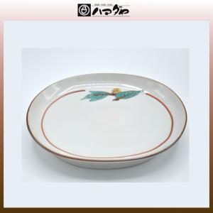 九谷焼 多田鐡男作 皿 葉紋小判皿 item no.1f685|hamadaya-shokki