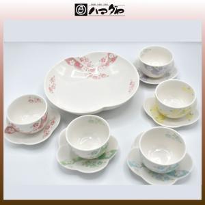 ちぎり友禅 茶器セット 来客揃え 5組 item no.1f729|hamadaya-shokki