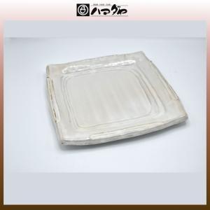 美濃焼 皿 粉引白雲正角盛皿 item no.1f737|hamadaya-shokki