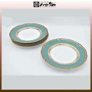 ノリタケ ボーンチャイナ ハナリンス ミート皿セット 5枚 23cm item no.2f421|hamadaya-shokki