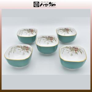 ノリタケ ボーンチャイナ ハナリンス 深小鉢揃 5枚セット item no.2f423|hamadaya-shokki