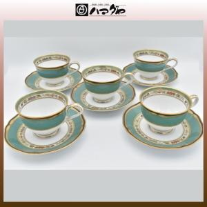 ノリタケ ボーンチャイナ ハナリンス コーヒー紅茶碗 5セット item no.2f425|hamadaya-shokki