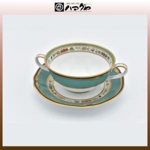 ノリタケ ボーンチャイナ ハナリンス ブイヨン碗皿1セット item no.2f426|hamadaya-shokki