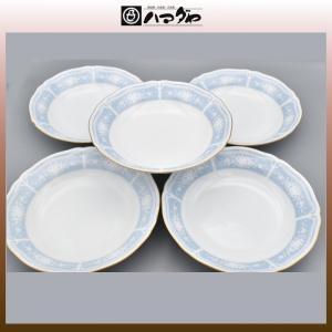 ノリタケ レースウッドゴールド スープ皿 19.5cm 5セット item no.2f533|hamadaya-shokki
