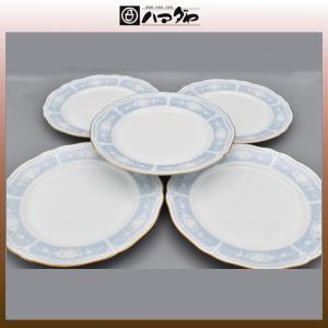 ノリタケ レースウッドゴールド サラダ皿 21cm 5枚 item no.2f534|hamadaya-shokki