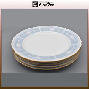 ノリタケ レースウッドゴールド ミート皿 23cm 5枚 item no.2f535|hamadaya-shokki