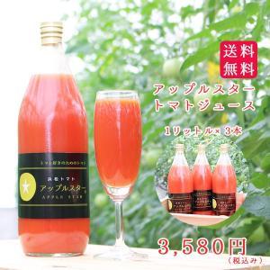 アップルスタートマトジュース 1リットル×3本 hamanako100