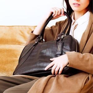 【cooga】理想のお仕事バッグを探す旅に終止符を。「好き」で選びたい別注レザーのA4ボストンバッグMia croco(ミアクロコ) hamano