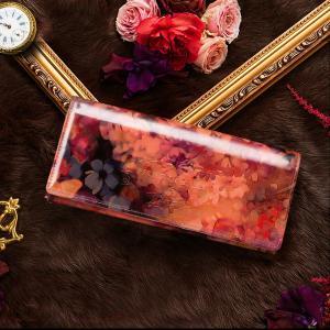 【FRUTTI】長財布 レディース ここでしか出会えない限定レザーで仕立てるALBA Aliceアルバアリス ピンク エナメル 花柄|hamano