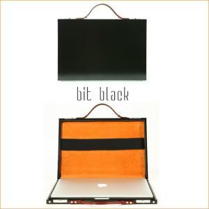 【PROTEX】『GOOD DESIGN賞』受賞ブランドのブリーフケース bit(ビット)ブラック 内側スエードレザー MacBook Pro15inchの収納も【12月26日頃出荷】 hamano