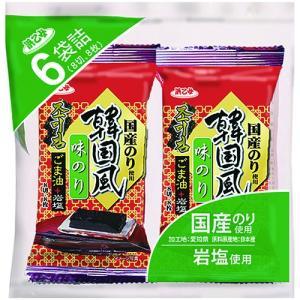 海苔 国産 韓国海苔 720枚/8切8枚×6袋×15 韓国風味付のり 6P(15個セット)