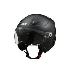X-AIR SOLDAD(ソルダード)マットブラック システムセミジェットヘルメット フリーサイズ(57〜60cm未満) リード工業