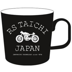 RSA029 TAICHI マグカップ カフェレーサー柄 ブラック 250cc RSタイチ(RSTAICHI)|hamashoparts