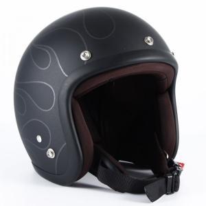 JJ-16 STEALTH ガラスフレークブラックベース マット仕上げ ジェットヘルメット 72JAM(ジャムテックジャパン)|hamashoparts