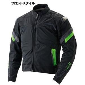 アームドハイプロテクションメッシュジャケット ブラックグリーン Mサイズ KAWASAKI(カワサキ)|hamashoparts