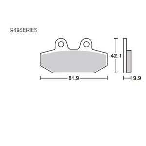 リア用 ブレーキパッド 949LS SBS(エスビーエス) ソフテイル(SOFTAIL) hamashoparts