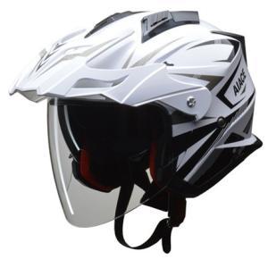 AIACE アドベンチャーヘルメット ホワイト L(59〜60cm未満) リード工業|hamashoparts