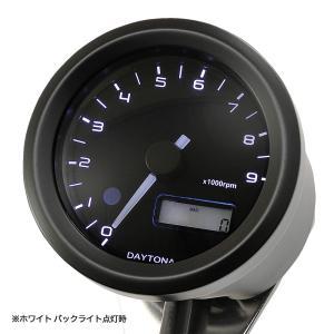 VELONA 電気式タコメーター Φ48(パルスジェネレーター無し)9000rpm ブラック/3色LED DAYTONA(デイトナ)|hamashoparts