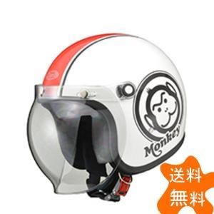 HONDA ホンダモンキーヘルメット ホワイト/レッド Mサイズ(ジェットタイプ)57〜58cm未満 HONDA(ホンダ)|hamashoparts