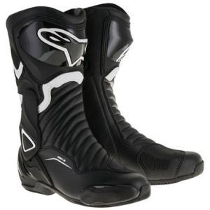 SMX6 レースブーツ ブラック/ホワイト 38/24.0cm アルパインスターズ(alpinestars)|hamashoparts