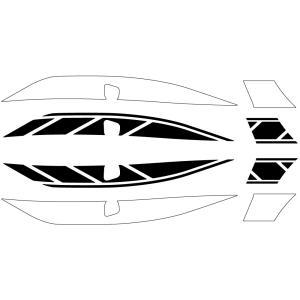 シグナスX SR(CYGNUS-X)EBJ-SEA5J ストロボステッカー 【単色】 ブラック WORLD WALK(ワールドウォーク)|hamashoparts