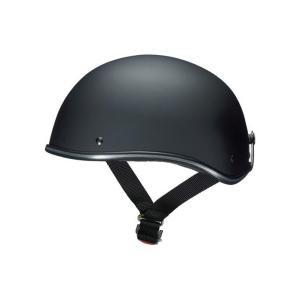 D-118 ハーフヘルメット マットブラック フリーサイズ(57〜60cm未満) Marushin(マルシン)