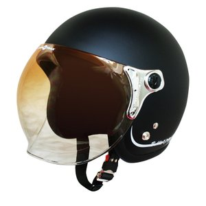 【セール特価】BUBBLE-BEE(バブル・ビー)マットブラック フリーサイズ(57〜60cm未満)ジェットヘルメット DAMM TRAX(ダムトラックス)
