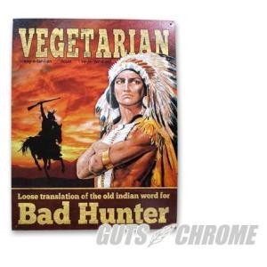 メタルサイン Vegetarian Bad Hunter GUTS CHROME(ガッツクローム)|hamashoparts