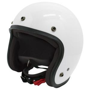 【セール特価】JET-D(ジェット・ディー)パールホワイト メンズフリーサイズ(57-60cm)ジェットヘルメット DAMM TRAX(ダムトラックス)|hamashoparts