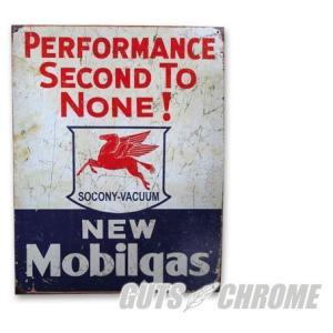 メタルサイン New Mobilgas Performance GUTS CHROME(ガッツクローム)|hamashoparts
