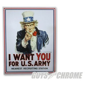 メタルサイン I Want You For U.S.Army GUTS CHROME(ガッツクローム)|hamashoparts