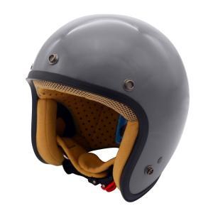 JET-D(ジェット・ディー)グロスグレイ レディースフリーサイズ(57-58cm)ジェットヘルメット DAMM TRAX(ダムトラックス)|hamashoparts