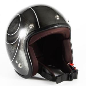 JCP-54 ROSA レディース ブラックフレークベース・グロス仕上げ ジェットヘルメット 72JAM(ジャムテックジャパン)|hamashoparts
