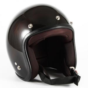 JCP-56 Leaf レディース ブラウン/ブラック グロス仕上げ ジェットヘルメット 72JAM(ジャムテックジャパン)|hamashoparts