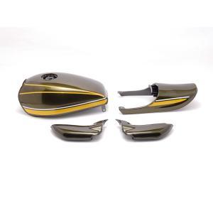 黄タイガー Z2タイプ 塗装済みスチールタンクセット エアプレーンキャップ仕様 ドレミコレクション(Doremi Collection) ゼファー750(ZEPHYR)|hamashoparts