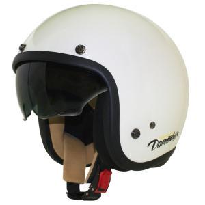 AIR MATERIAL(エアーマテリアル)ジェットヘルメット オフホワイト レディースフリーサイズ(56〜57cm未満) DAMM TRAX(ダムトラックス)|hamashoparts