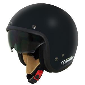 AIR MATERIAL(エアーマテリアル)ジェットヘルメット フラットブラック レディースフリーサイズ(56〜57cm未満) DAMM TRAX(ダムトラックス)|hamashoparts