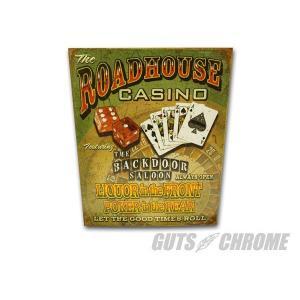 メタルサイン Road House Casino GUTS CHROME(ガッツクローム)|hamashoparts