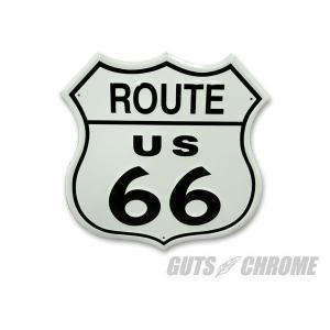 メタルサイン Route 66 GUTS CHROME(ガッツクローム) hamashoparts