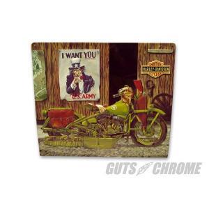 メタルサイン H-D Freedom Riders GUTS CHROME(ガッツクローム)|hamashoparts